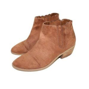 Call it Spring Brown Suede Western Style Ankle Booties
